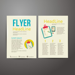 Abstract Brochure Flyer design, checklist