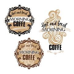Hot fresh coffe showcase mockup