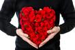 Obrazy na płótnie, fototapety, zdjęcia, fotoobrazy drukowane : red roses. bouquet of flowers in heart shape