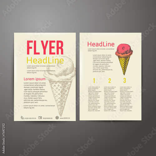 Abstract  Brochure Flyer design vector template. stylish ice - 76472112