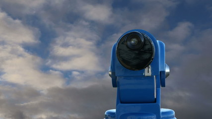 telescope viewer against the sky