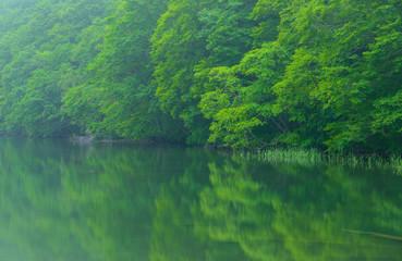 Tsutanuma Pond in Towada-Hachimantai National Park, Aomori, Japa