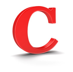 Letter C (clipping path included)