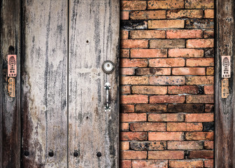Wooden plank on the wall background