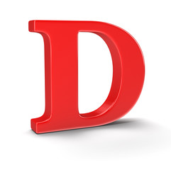 Letter D (clipping path included)