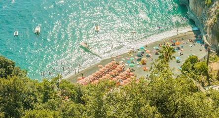 Aerial View Tropical Beach Island Blue Water Sea Ocean Tourists