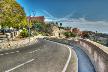 winding road in Cagliari