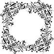 Vignette als Kreis mit Blättern