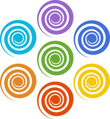 Spiral Chakras, Cosmic Energy Centers, Color