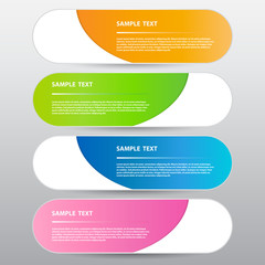 Modern Colorful Banner, Vector Work