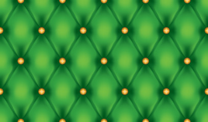 Green luxury quiltn vector seamless pattern