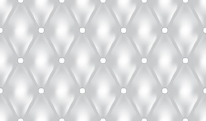 White luxury quiltn vector seamless pattern