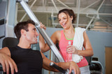 Gym: Girl Flirts with Guy At Gym