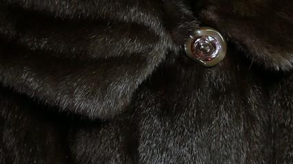 detail of a mink coat