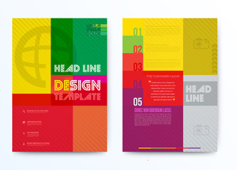 Design template can use for brochure background