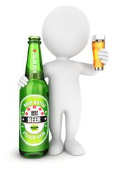 3d white people beer bottle