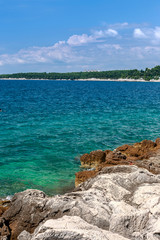 Wild beach in Pula, Croatia, Europe