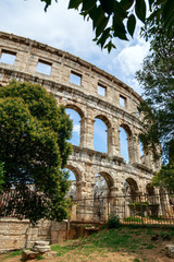 Famous amphitheater in Pula, Croatia