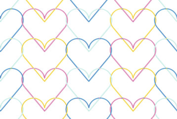 HEARTS SILUET BACKGROUND