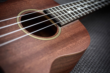 Close up of ukulele