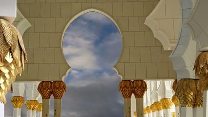 Abu Dhabi Sheikh Zayed White Mosque in UAE
