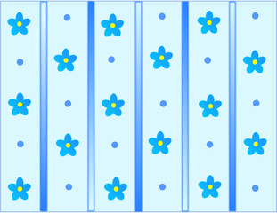 Blue cute texture with lovely daisy flower