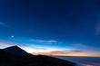 canvas print picture - Sonnenuntergang im Teide Nationalpark auf Teneriffa