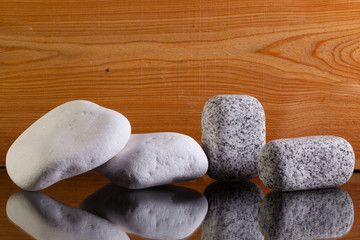 Different lime and granite stones