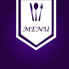 Simple Purple & White Menu Cover