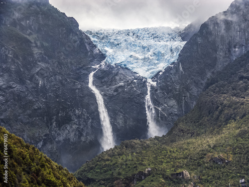 Tuinposter Gletsjers Gletscher Ventisquero Colgante Queulat
