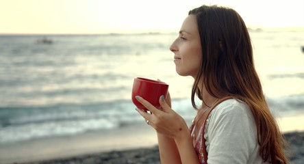 Drinking Coffee At The Beach Sunrise Sunset Summer Beautiful