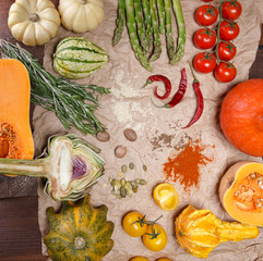 vegetables and spices