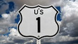 US Route One Sign Time Lapse