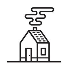 Flat cool house symbol