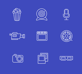 Media or multimedia icon set