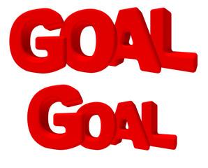 goal vittoria obbiettivo parola 3d rossa game sfida lavoro gioco