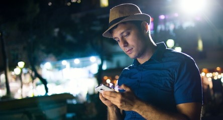 Young Professional Businessman Using Smartphone Urban City