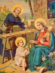 ypical catholic image printed image of Holy Family