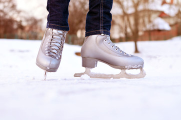 Winter, ice skating