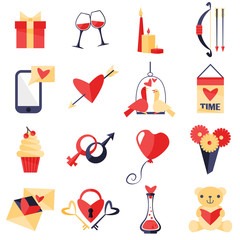 Love symbols set.