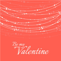 Valentine's Day Illustration with Delicate Beautiful Decorations