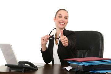 Motivierte Geschäftsfrau
