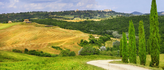 scenery of Tuscany, panorama of countryside
