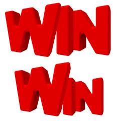 win vittoria vincita parola 3d rossa, game sfida lavoro gioco