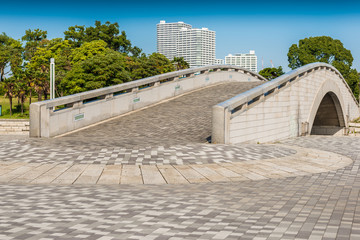 concrete bridge in the park