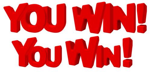 you win tu hai vinto parola 3d rossa, game sfida lavoro gioco