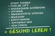 canvas print picture - Gesund Leben!