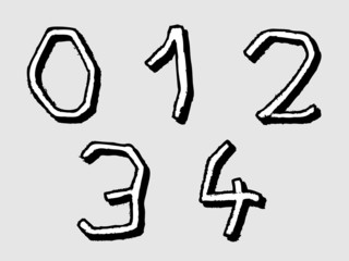 01234 irregular numbers or digits