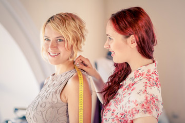 At tailors studio
