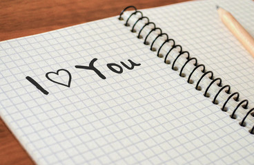 "Writing Sweet Text ""I Love You"""